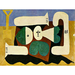 Pablo Picasso | Пабло Пикассо - Голая женщина на пляже и лопата