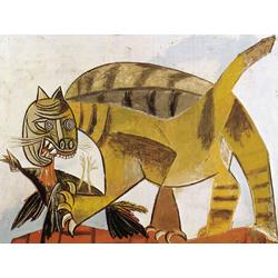 Pablo Picasso | Пабло Пикассо - Кот пожирающий птицу