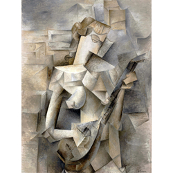 Pablo Picasso | Пабло Пикассо - Девушка с мандолиной