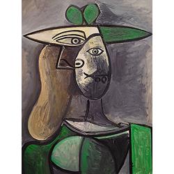 Pablo Picasso | Пабло Пикассо - Женщина в зеленой шляпке