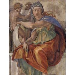 Michelangelo | Микеланджело - Фрески плафона Сикстинской капеллы. История творения, сцена в люнете. Дельфийская сивилла