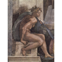 Michelangelo | Микеланджело - Фрески плафона Сикстинской капеллы. История творения. Фрагмент