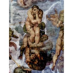 Michelangelo | Микеланджело - Страшный суд, фреска из Сикстинской капеллы. Фрагмент. Проклятые
