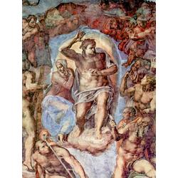 Michelangelo | Микеланджело - Страшный суд, фреска из Сикстинской капеллы. Фрагмент. Христос и Мария