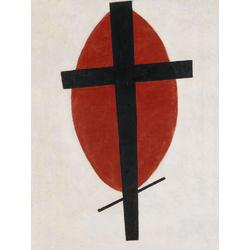 Малевич Казимир - Черный крест на красном овале