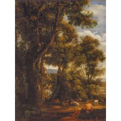 Claude Lorrain   Лоррен Клод - Пейзаж с погонщиком гусей и гусями