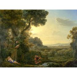 Claude Lorrain   Лоррен Клод - Пейзаж с Нарциссом и Эхо