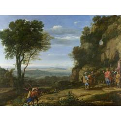 Claude Lorrain   Лоррен Клод - Пейзаж с Давидом у могилы Эдалема