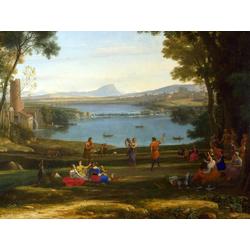Claude Lorrain   Лоррен Клод - Пейзаж со свадьбой Исаака и Ребекки