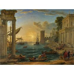 Claude Lorrain   Лоррен Клод - Морской порт с причалившей Королевой Шеба