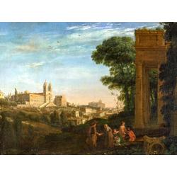 Claude Lorrain   Лоррен Клод - Вид на Рим