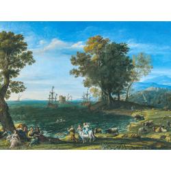 Claude Lorrain - The Rape of Europa, 1655   Лоррен Клод