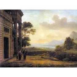 Claude Lorrain - The Expulsion of Hagar, 1668   Лоррен Клод