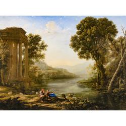 Claude Lorrain - Pastoral Landscape, 1638   Лоррен Клод