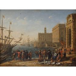 Claude Lorrain - Harbour Scene   Лоррен Клод
