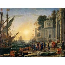 Claude Lorrain - Cleopatra Disembarking at Tarsus, 1642   Лоррен Клод