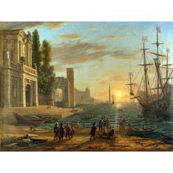 Claude Lorrain - A Seaport, 1639   Лоррен Клод