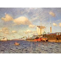 Isaac Levitan | Левитан Исаак - Свежий ветер. Волга, 1895