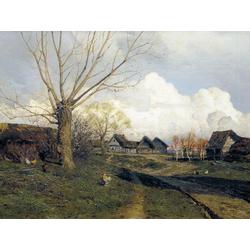 Isaac Levitan | Левитан Исаак - Саввинская слобода под Звенигородом, 1884