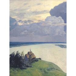 Isaac Levitan | Левитан Исаак - Над вечным покоем, 1894