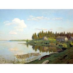 Isaac Levitan | Левитан Исаак - На озере, 1893