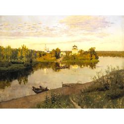 Isaac Levitan | Левитан Исаак - Вечерний звон, 1892