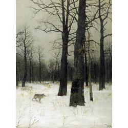 Isaac Levitan - Wood in Winter, 1885 | Левитан Исаак
