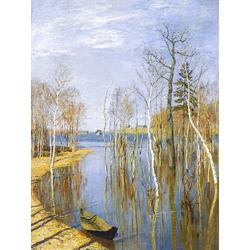 Isaac Levitan - Spring, High Water, 1897 | Левитан Исаак