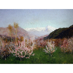 Isaac Levitan - Spring in Italy, 1890 | Левитан Исаак