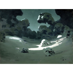 Куинджи Архип - Пятна лунного света в лесу