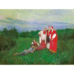 Korovin Konstantin   Коровин Константин - Северная идиллия, 1886