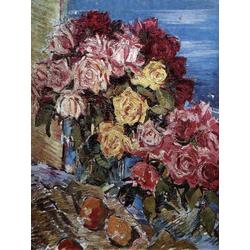 Korovin Konstantin   Коровин Константин - Розы на фоне моря, 1930