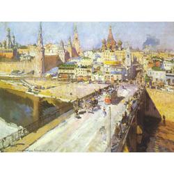 Korovin Konstantin   Коровин Константин - Мост через Москву-реку, 1914