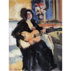 Korovin Konstantin   Коровин Константин - Дама с гитарой, 1911