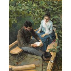 Korovin Konstantin   Коровин Константин - В лодке, 1888