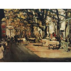 Korovin Konstantin   Коровин Константин - Кафе в Ялте, 1905