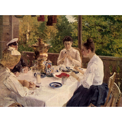 Korovin Konstantin   Коровин Константин - За чайным столом, 1888