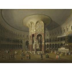 Canaletto | Каналетто - Лондон. Интерьер ротонды в Ранелах