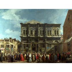 Canaletto | Каналетто - Венеция, Праздничный день в Сен Рохе