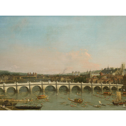 Canaletto - Westminster Bridge from the North with Lambeth Palace in distance | Каналетто