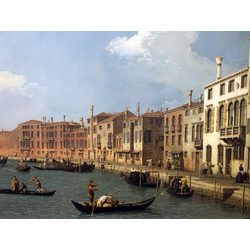 Canaletto - View of the Canal of Santa Chiara, Venice | Каналетто