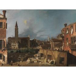 Canaletto - Venice Campo San Vidal and Santa Maria della Carita | Каналетто