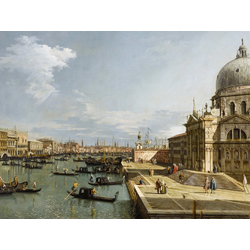 Canaletto - The Entrance to the Grand Canal and the church of Santa Maria della Salute, Venice | Каналетто