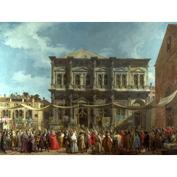 Canaletto - The Doge Visiting the Church and Scuola di San Rocco | Каналетто