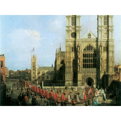Canaletto - Procession of the Knights of the Bath | Каналетто