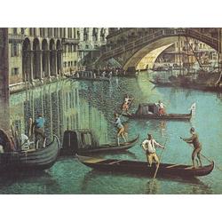 Canaletto - Gondoliers near the Rialto Bridge, Venice | Каналетто