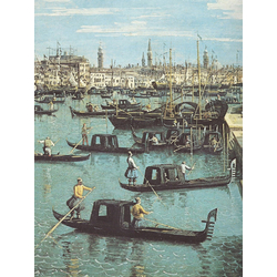 Canaletto - Gondoliers near the Entrance | Каналетто