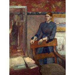 Edgar Degas | Дега Эдгар - Хелен Руарт в кабинете ее отца