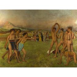 Edgar Degas | Дега Эдгар - Упражняющиеся юные спартанцы