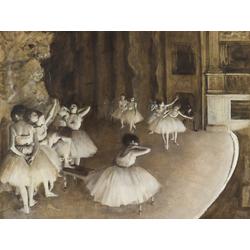 Edgar Degas | Дега Эдгар - Репетиция балета на сцене